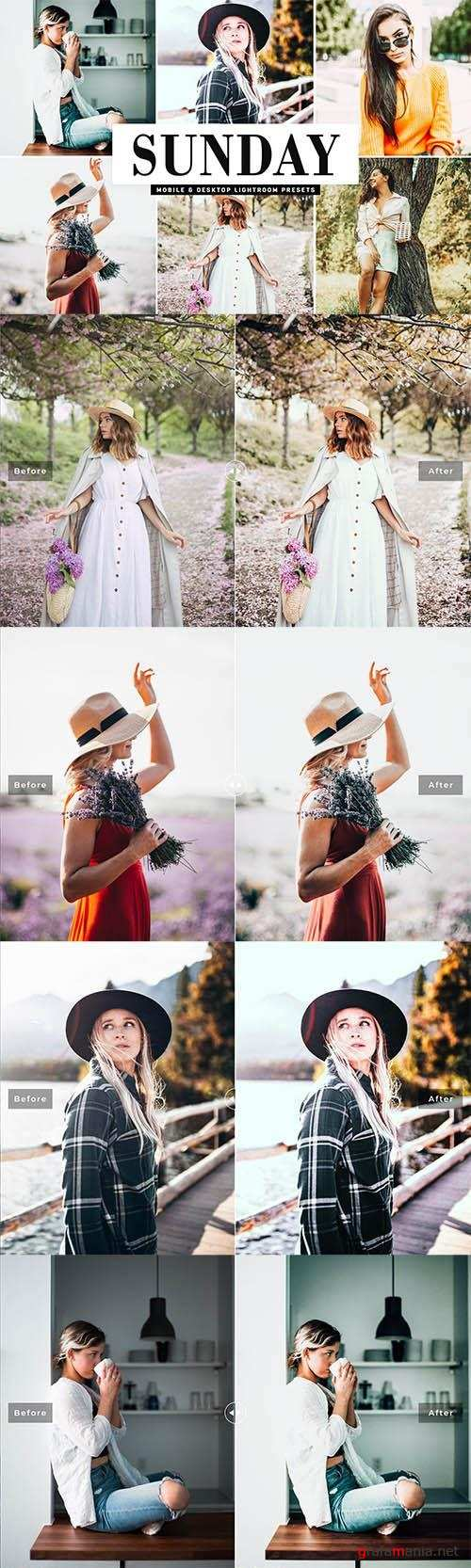 Sunday Lightroom Presets Pack - Mobile & Desktop