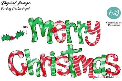 Merry Chistmas sublimation design, Christmas transfer file - 380692