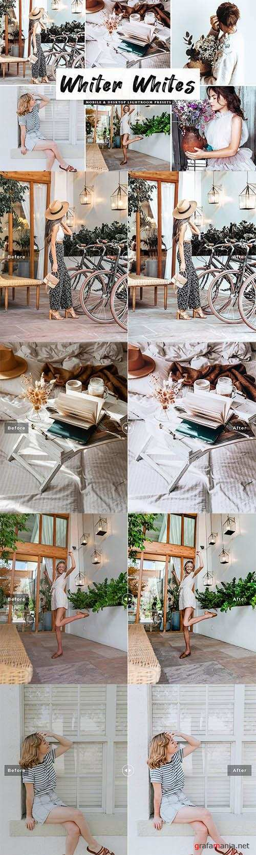 Whiter Whites Lightroom Presets Pack - Mobile & Desktop