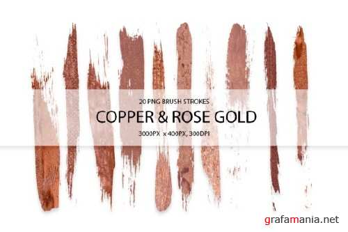 Cooper & Rose Gold Strokes