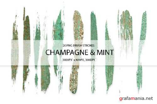 Champagne & Mint Strokes