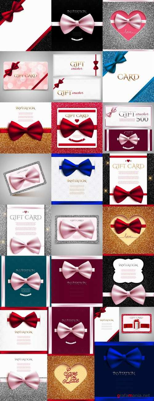 Ribbon gift card tape surprise birthday celebration day 25 EPS