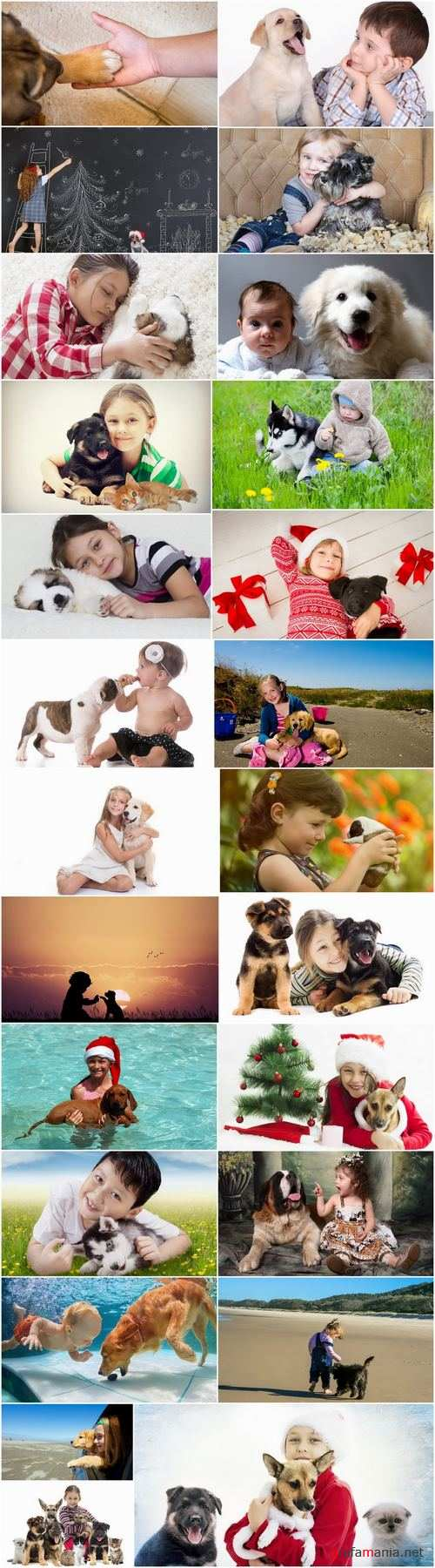 Children baby boy girl puppy dog kitten cat 25 HQ Jpeg