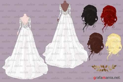 Bride Clipart Wedding Clipart Bride Groom Clipart Bridal - 366974