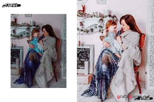 05 Family Xmas Photoshop Actions, ACR and LUT presets - 401813