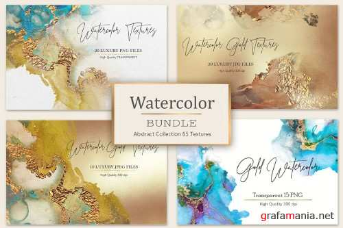 Gold Watercolor Christmas Foil - 4096813