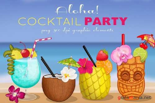 Tropical Cocktail Party Elements - 167304