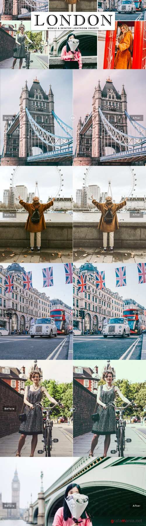 London Lightroom Presets Pack - 4273095