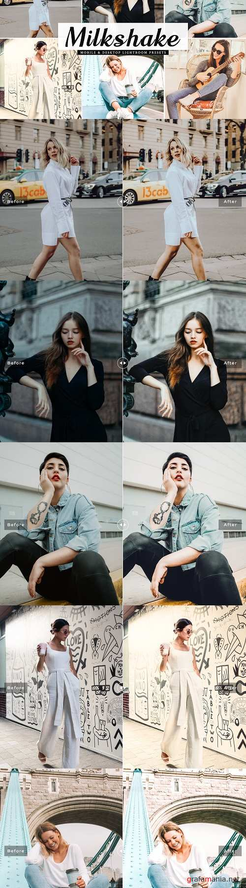 Milkshake Lightroom Presets Pack - 4281033