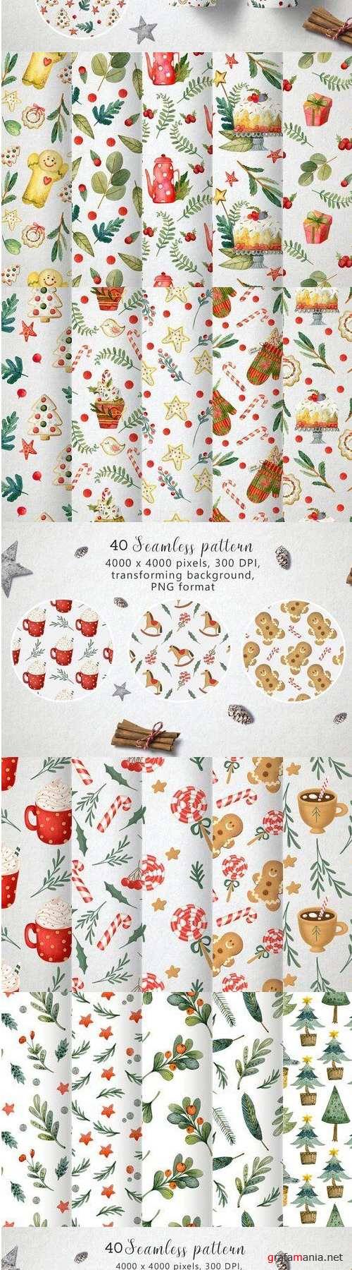 Christmas pattern Bundle - 4308808