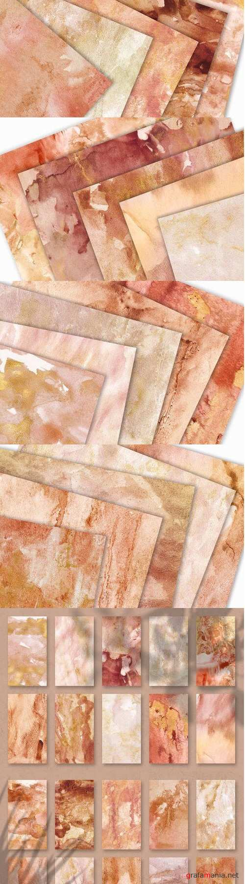 20 Seamless Watercolor Textures - 3690911