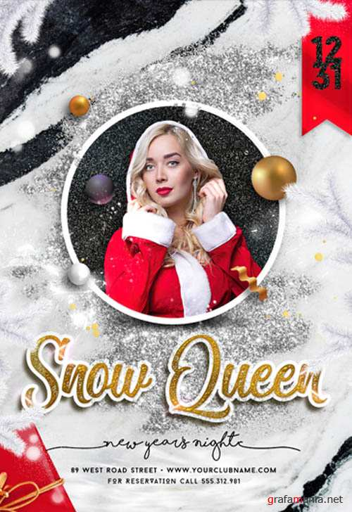 Snow Queen Night V2611 2019 Premium PSD Flyer Template