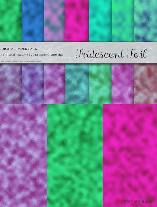 Iridescent Foil Digital Papers - 4398906