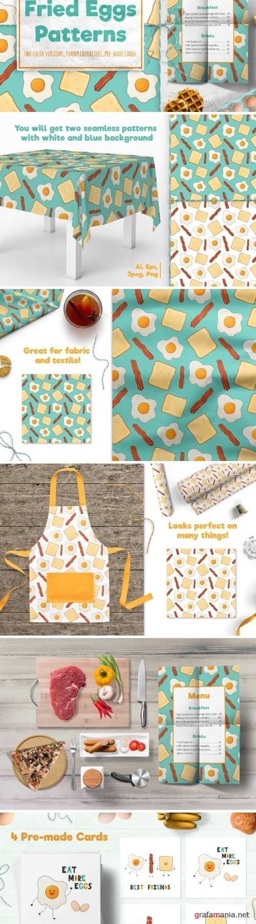 Fried Eggs Patterns - 4180721