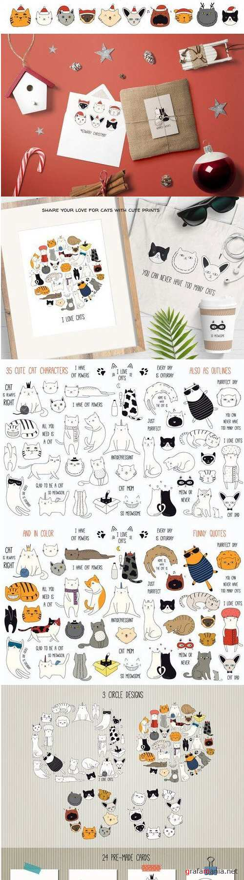 Cute Cat Doodles 3159467