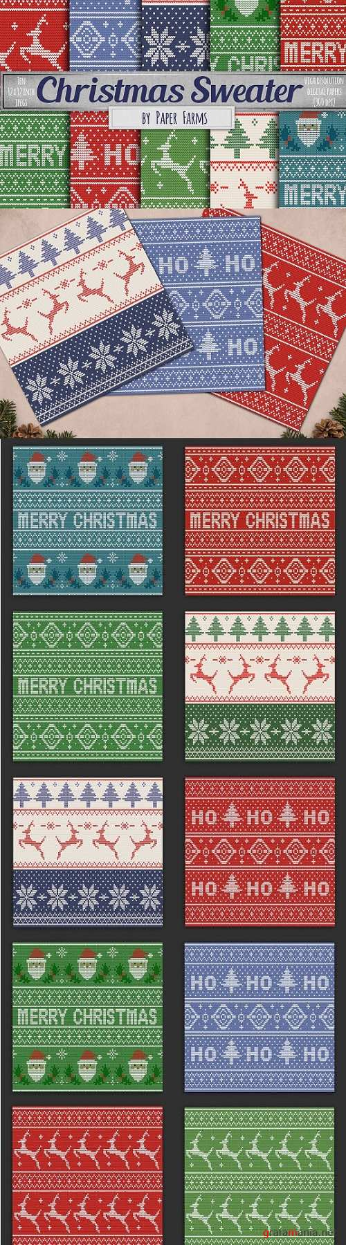 Ugly sweater digital paper - 1952899