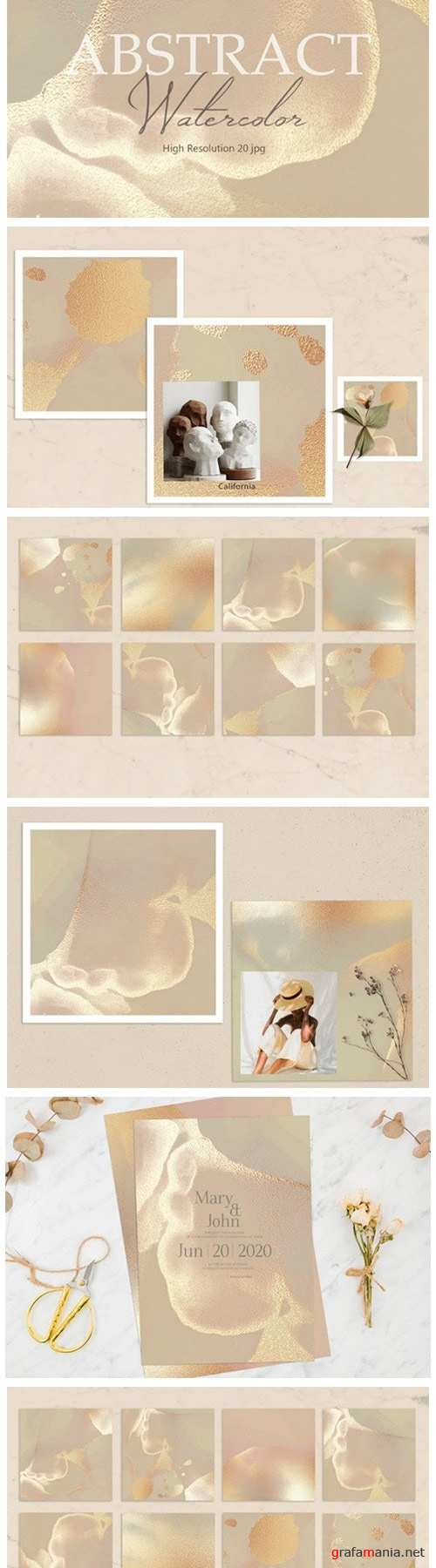 Gold Watercolor Background - 2362935