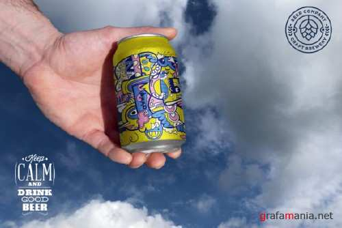 Clean Hand Beer Can Mockup