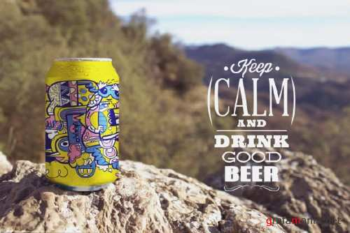 Nature Beer Can Mockup