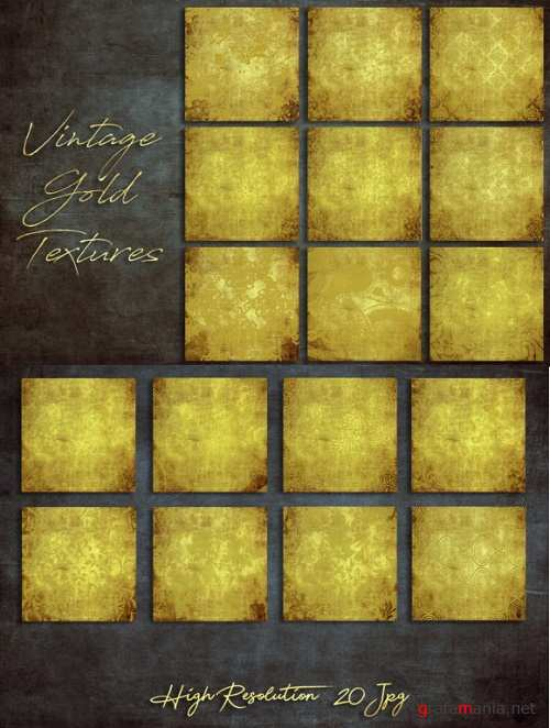 Vintage Gold Textures - 2396978