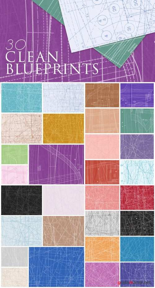 30 Clean Fabric Blueprint Paper Textures