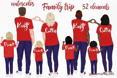 Family clip art Parents and Kids - 4441033