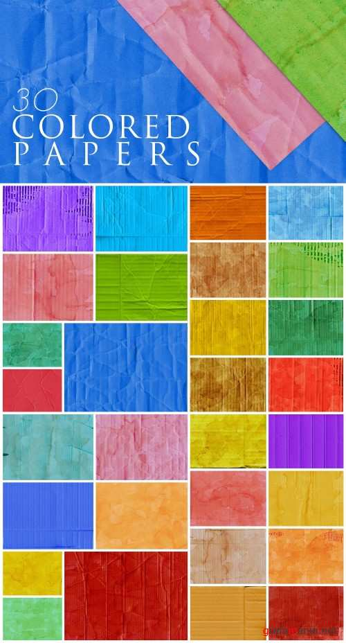 30 Colorful Cardboard Paper Textures