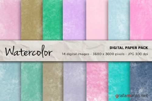 Watercolor Digital Papers, Background - 2400931