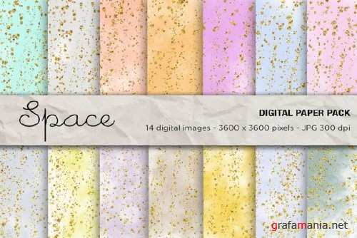 Space Digital Papers, Galaxy Background