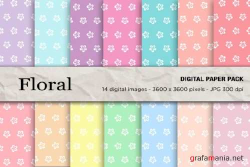 Floral Seamless Patterns - 2427749