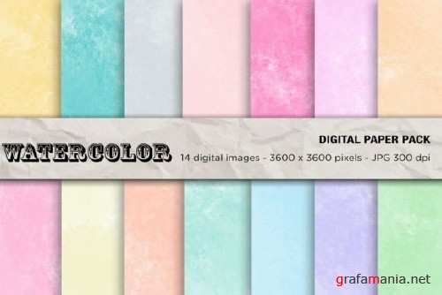 Watercolor Digital Papers - 2457021