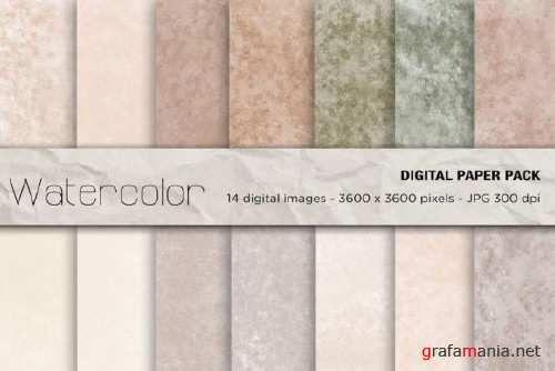 Watercolor Digital Papers - 2456806