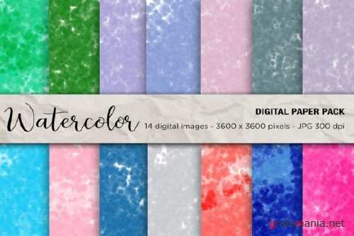 Watercolor Digital Papers - 2456807