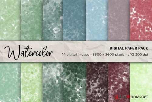 Watercolor Digital Papers - 2456816