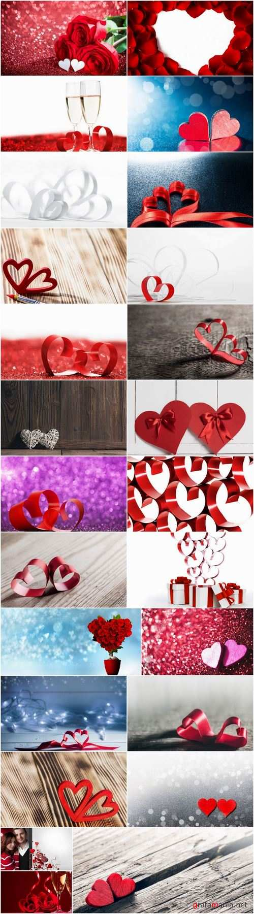 Valentines Day heart decoration ribbon red paint 25 HQ Jpeg