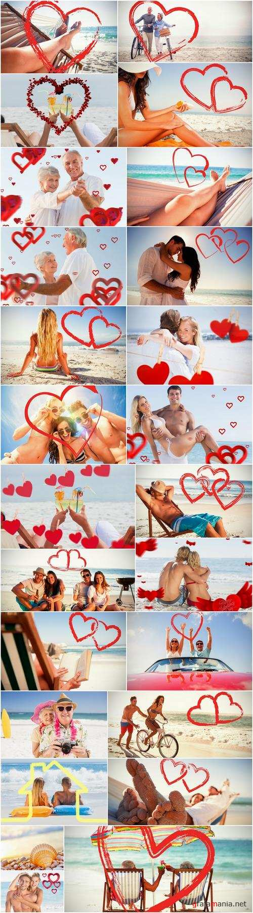 Holiday Valentines Day couple beach sea vacation travel 25 HQ Jpeg