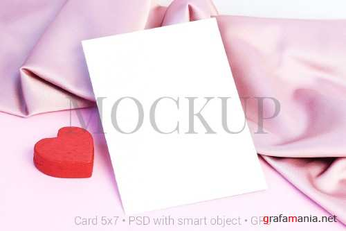 Card mockup with heart & FREE BONUS - 419354