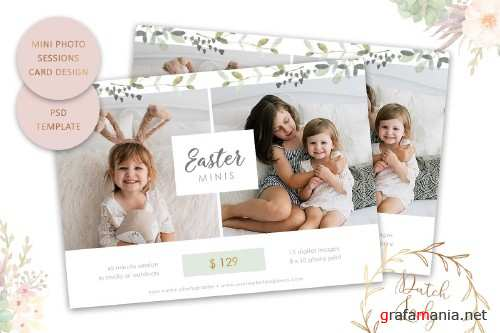PSD Photo Session Card Template #50 - 4401835