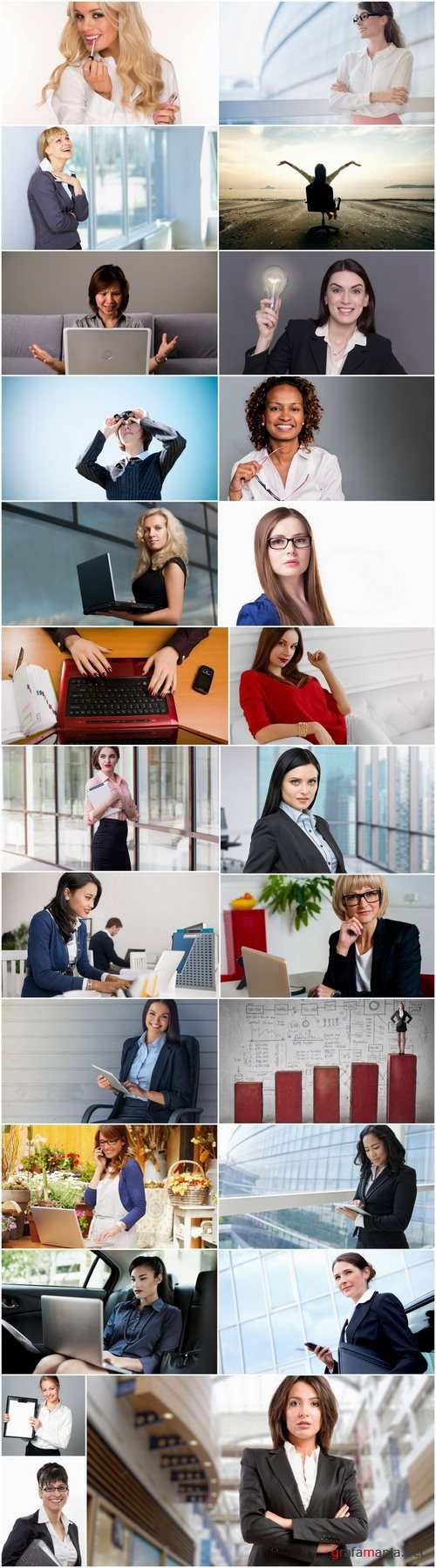 Business woman female girl business suit laptop 2-25 HQ Jpeg
