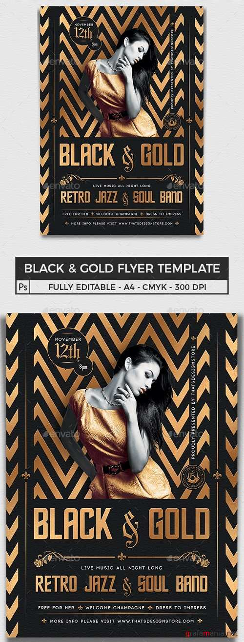 Black and Gold Flyer Template V18 - 25497795 - 4466219