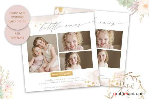 PSD Photo Session Card Template #52 - 4434180