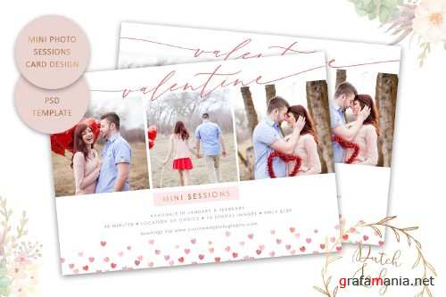 PSD Photo Session Card Template #51 - 4431063