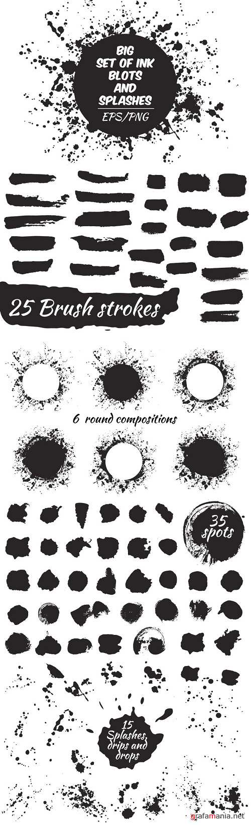 Ink blots and splachers set - 1329141