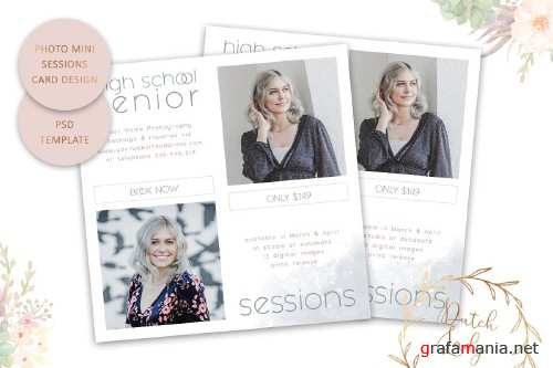 PSD Photo Session Card Template #53 - 4438956