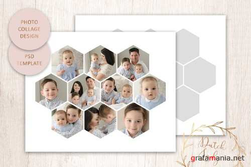 PSD Photo Collage Template #6 - 4421513