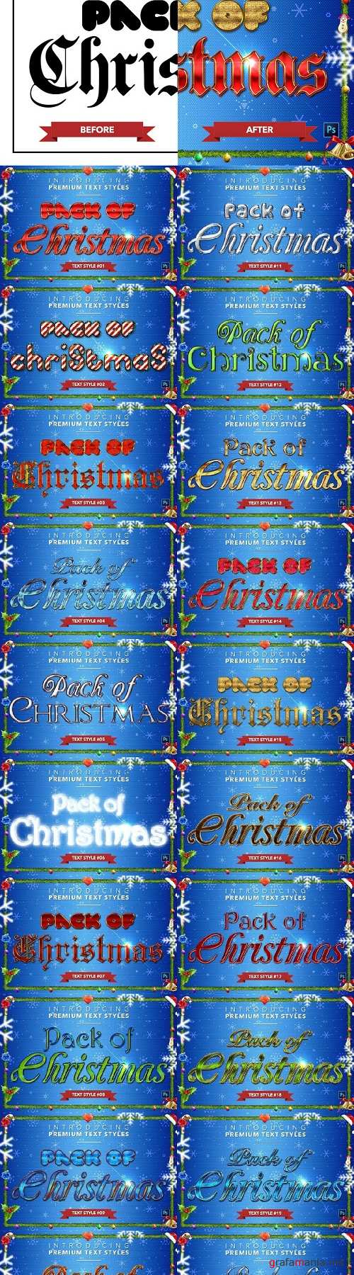 Christmas Pack #2 - Text Styles - 4378071