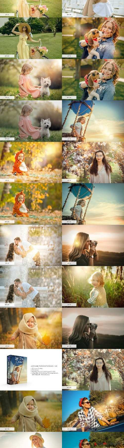 Light Flare Photoshop Overlays - 4298685