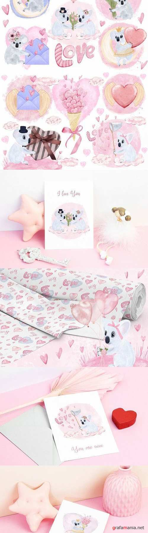 Koalas In Love Decoration Bundle - 418410