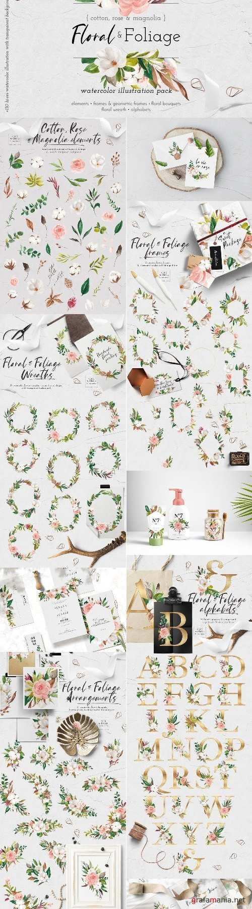 Floral & Foliage Illustration Pack - 4452095