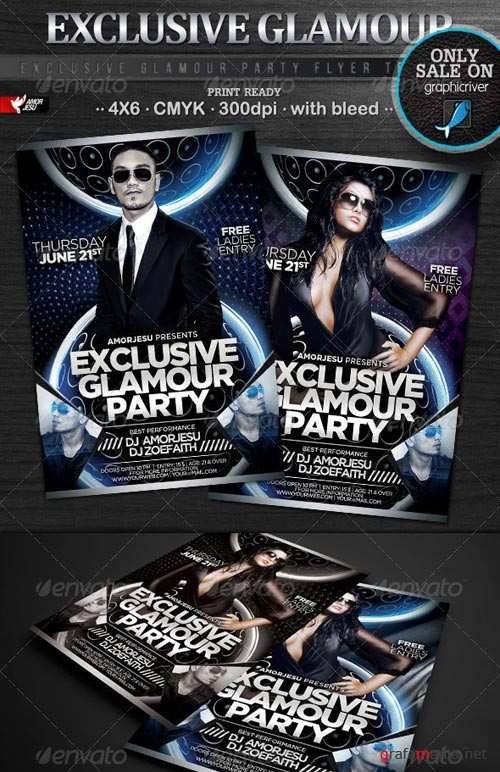 Graphicriver Turn Up The Party Flyer Template Laidhub 1